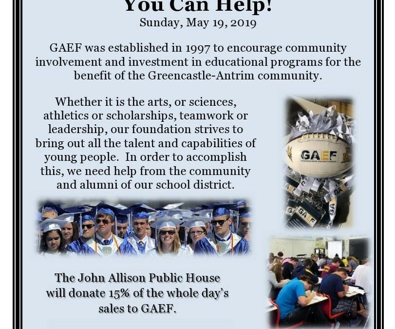 John Allison Public House Supports GAEF